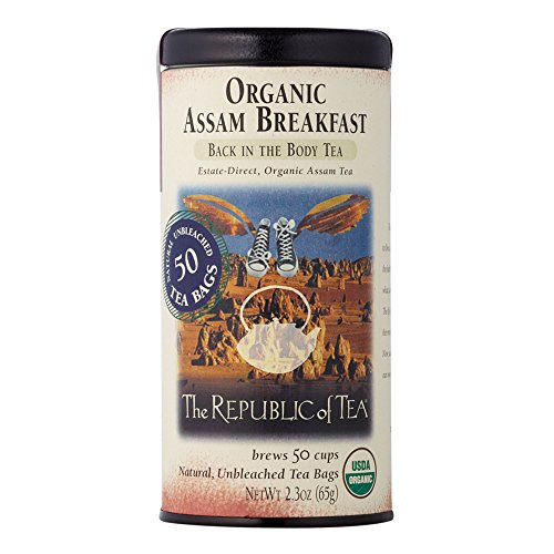 The Republic Of Tea Organic Assam Breakfast Tea, 50 Tea Bags, Premium Assam Black Tea, Certified Organic ()