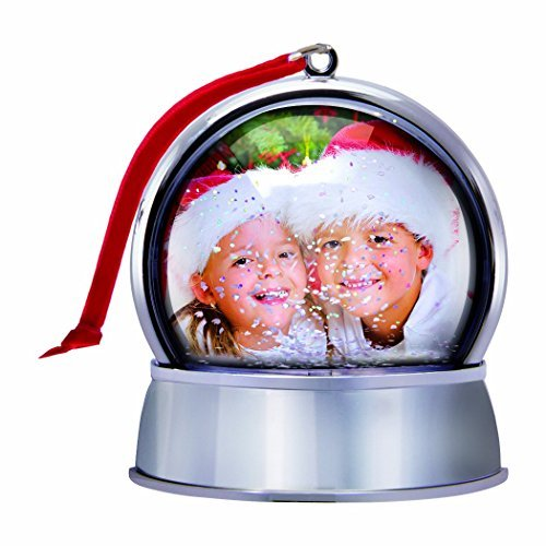 Photo Snow Globe Christmas Ornament with Magnet -