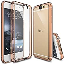 HTC One A9 Case, Ringke FUSION [Rose Gold Crystal] Shock Absorption TPU Bumper Drop Protection [FREE Screen Protector] Premium Crystal Clear Hard Back [Anti-Static][Scratch Resistant] for HTC One A9