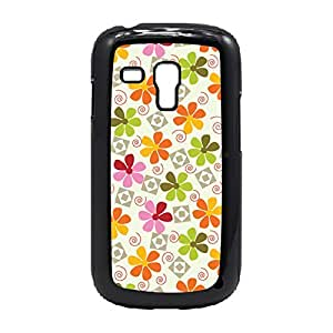LJF phone case Case Fun Case Fun Retro Flowers Snap-on Hard Back Case Cover for Samsung GalaxyS3 Mini (I8190)