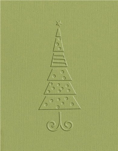 QUICKUTZ We R Memory Keepers A-2 Embossing Folder, Christmas Tree