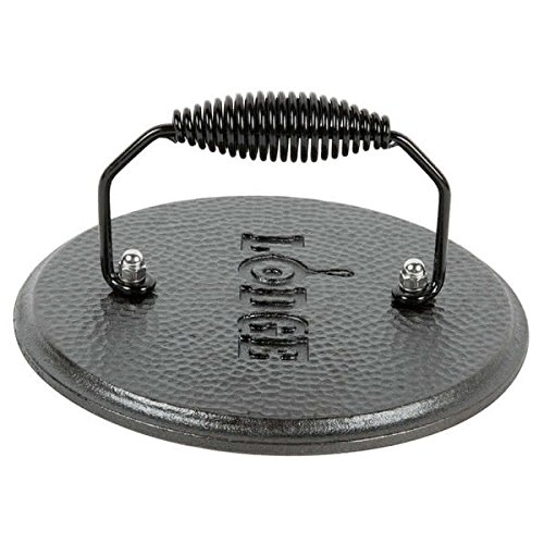 Lodge LGPR3 Cast Iron Round Grill Press, Pre-Seasoned, 7.5-inch