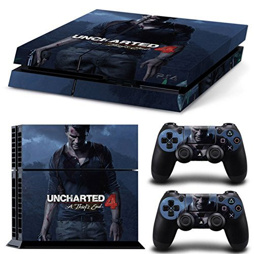 Elton-Uncharted-4-PlayStation-4-Limited-Edition-Sticker-Skin-For-PS4-Console-And-Controllers