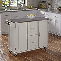 Home Styles 4514-95 Patriot Kitchen Cart, White