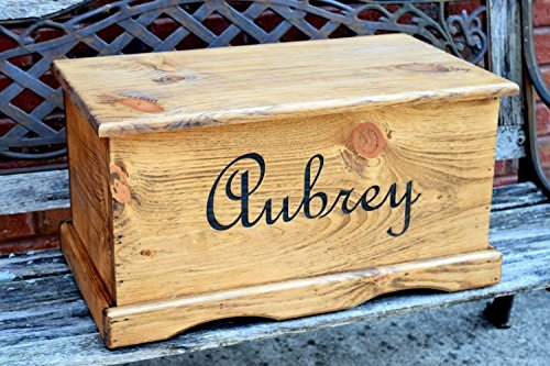 Personalized Kids Toy Box With Inside Lid Engraving Chest Memory