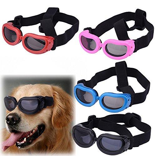 Molie UV Sonnen wasserdichten Schutz Hundebrillen für Haustier Hunde (Blue)