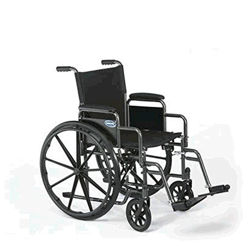 Wheelchair Personal Transport Lightweight (Invacare Veranda 16 x 16 - Small w/Desk Length Removable Arms and Swingaway Footrests)
