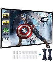 Powerextra Écran Projection120 16: 9 HD Pliable Anti-pli Portable Lavable écran de Projection pour Home Cinema Réunion Colloque Représentation Commercial