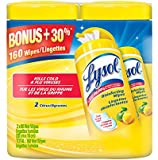 Lysol Disinfecting Surface Wet Wipes 80 Count Value Double Pack, Citrus Scent, 160 Count
