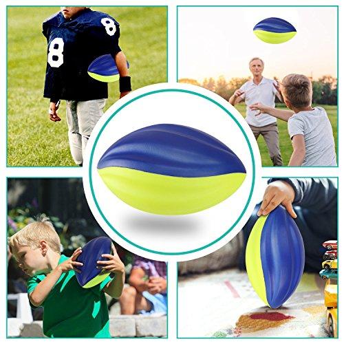 """Liberty Imports [Set of 3] Pro Sports Spiral Foam Football - 8.5"""""""