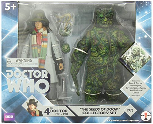 """Underground Toys Doctor Who 'Seeds of Doom' Action Figure Collector's Set, 5"""""""