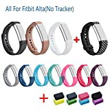 I-SMILE Newest Replacement Wristband With Secure Clasps for Fitbit Alta Only(No tracker, Replacement Bands Only) (Set of 11)