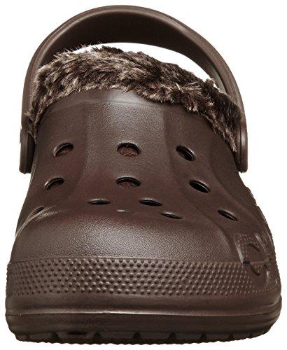 Crocs Unisex Baya jaspeado Lined Clog Mahogany/Mahogany