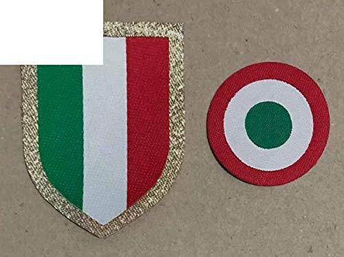 Italia Calcio Patch Patchwork Needlework Sewing 15-19 Red Coppa Circle Scudetto + Italy ()
