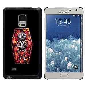 MobileHut / Samsung Galaxy Mega 5.8 9150 9152 / Skull Coffin Death Diamond Skeleton / Delgado Negro Plástico caso cubierta Shell Armor Funda Case Cover