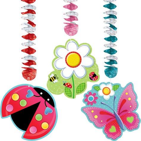 Dangling Cut Out Decorations (Garden Girl 54in Dangling Cutouts 3ct)