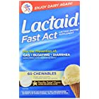 Lactaid Fast Act Lactase Enzyme Supplement Chewable Tablet, Vanilla Twist, 60 Count