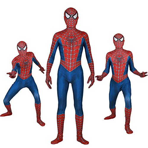 Unisex Lycra Spandex Zentai Halloween New glasses Cosplay Costumes Adult/Kids 8D Style (Adults-S Red and Blue ...