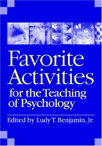 Favorite Activities for the Teaching of Psychology (Favorite Activities For The Teaching Of Psychology)