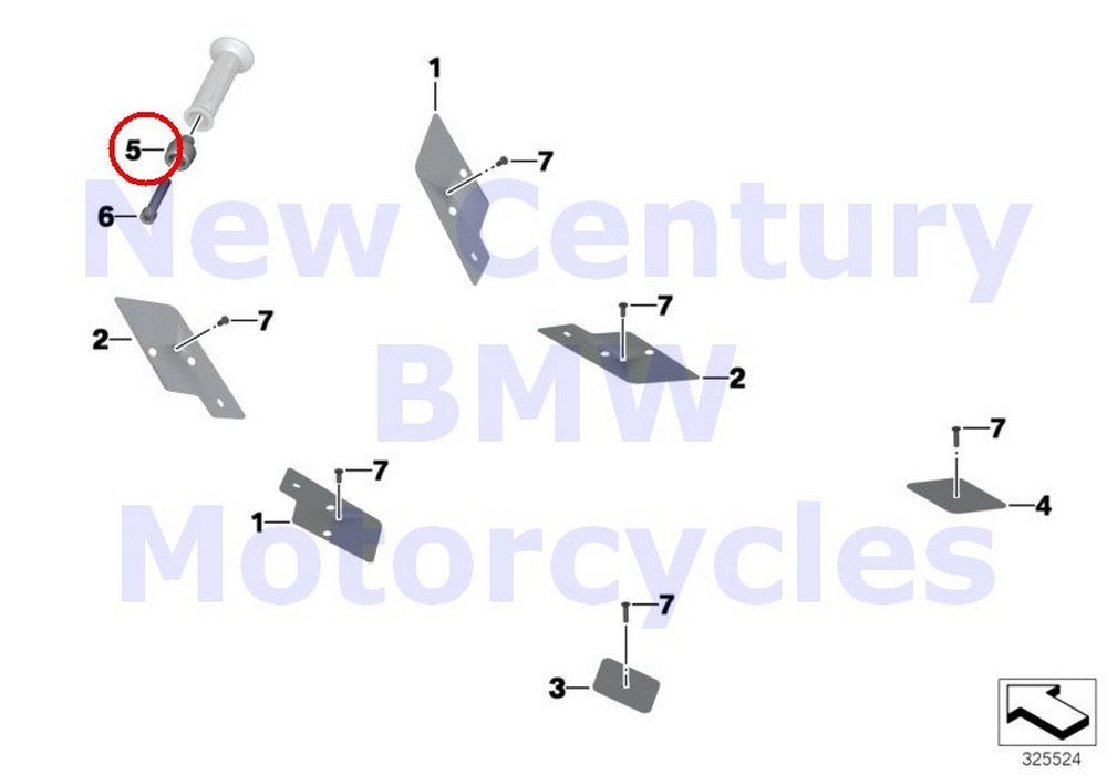 BMW Genuine Motorcycle Chrome Package Chrome-Plated Handlebar Weight C600 Sport C650GT