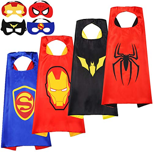 Kids Cartoon Heroes Capes - Role Playing Batman Costumes and Masks Birthday Party Gifts (Batman Cape -