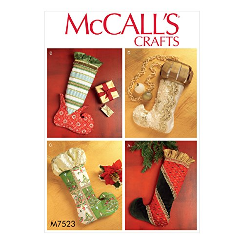- McCall's Patterns M7523OSZ Christmas Stockings in Four Styles Sewing Pattern, One Size Only