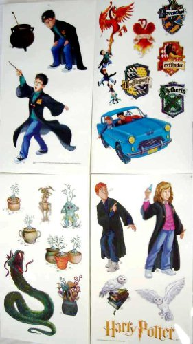 Harry Border Potter - Priss Prints Harry Potter Jumbo Stick Ups Wall Decorating Stickers, 20+ Included