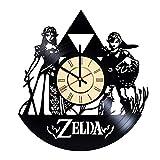 Princess Zelda Vinyl Clock Gift for Zelda Fans Nintendo Gamer Room Wall Decor Manga Art Hyrule Handmade Living Room Artwork