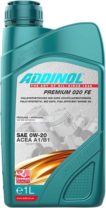 Addinol Motoröl Motorenöl Motor Motoren Motor Oil Engine Oil Benzin Diesel 0w 20 Premium 020 Fe 1l 72097207 Auto