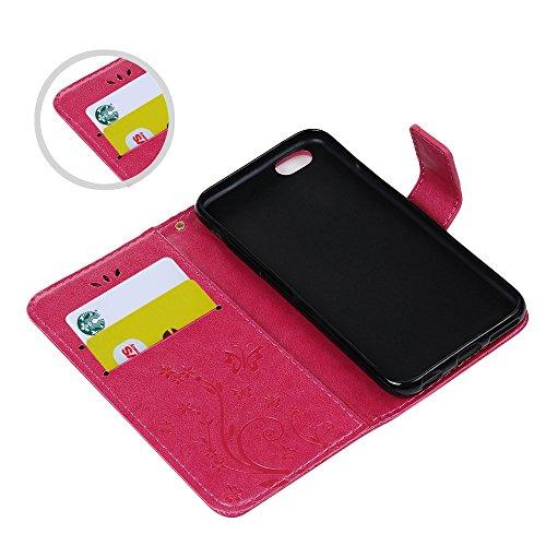 KASOS Case IPhone 6G IPhone 6S Housse Coque en Cuir Gaufré Avec Gratuit Protecteur D'écran,Motif Imprimé Rabat Magnétique Folio Construit en Stand avec Fente Carte et Lanyard Strap Antichoc Complète P