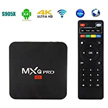 Android 6.0 TV Box, MXQ PRO Amlogic S905X Quad-core 64-bit 1G 8G UHD 4K 60fps H.264 Kodi 16.0 Pre-Installed Smart Streaming Media Player