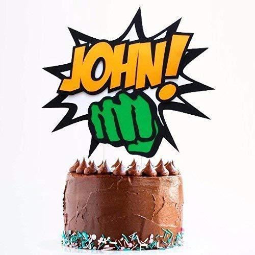 Tremendous Amazon Com Hulk Cake Topper Birthday Hulk Cake Topper Superhero Personalised Birthday Cards Veneteletsinfo