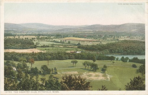 Historic Pictoric Postcard Print   Country Club, Pittsfield, Mass, 1898   Vintage Fine Art