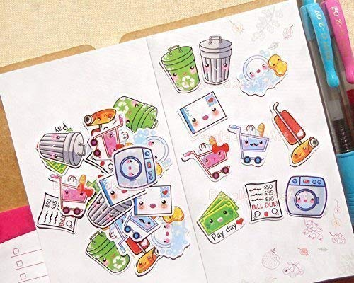 Housework Stickers for Planner - Planner Stickers - Matte Stickers - Stickers for Planner and Agenda - Scrapbook Embellishment - Notebook Stickers - ...