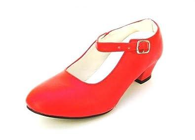 413048da007b88 chaussures flamenco fillette talon,Chaussures enfant fille 脿 talons  escarpin blancs de danse FLAMENCO fillette