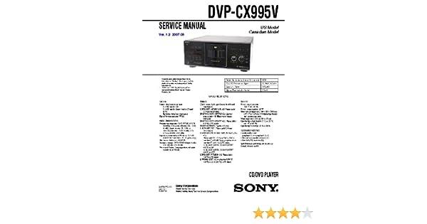 sony dvp cx995v manual download