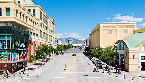Gateway Shopping Center Downtown Salt Lake City Salt Lake City Utah USA Poster Print (27 x - Center Shopping Lake Salt City