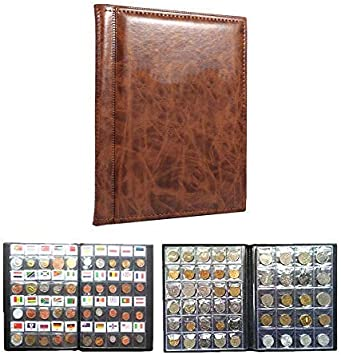 10 Páginas Album De Monedas Coleccionistas De Monedas 250 Bolsillos Para El Almacenamiento De Monedas Colección De Monedas Libro Idioma Ruso (Color : Brown): Amazon.es: Hogar