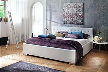 Amazonde Elegantes Polsterbett In Komforthöhe 100x200 L