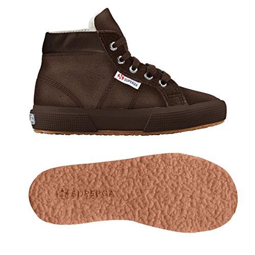 Superga 2204 - Suej - Zapatillas de cuero para niño Full Dk Chocolate