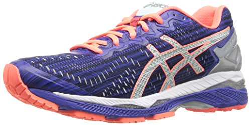 ASICS Women's Gel-Kayano 23 Lite-Show Running Shoe, Carbon/Silver/Reflective, 7.5 M US