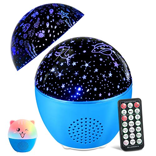 MOSUO Star Projector Light for Bedroom, Baby Night Light Starry Sky Ocean Wave Projector Light Kids Night Light with Bluetooth & Remote Control, 4 Timer 16 Colorful Lights for Girls & Boys