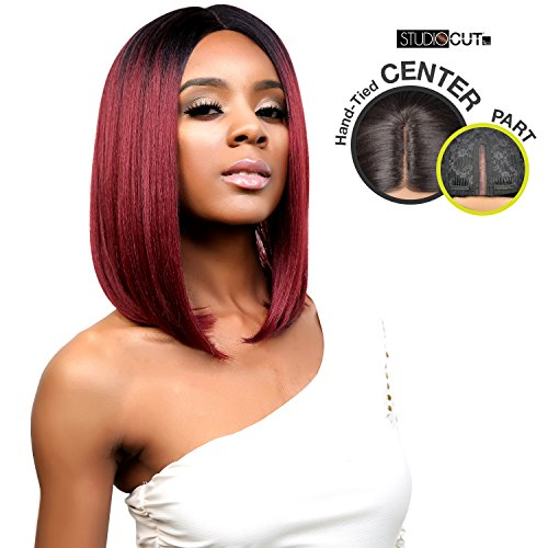 Studio Cut By Pros Synthetic Hair Wig Deep Lace Center Part Chic Bob (1B) (Hair Styles Studio)
