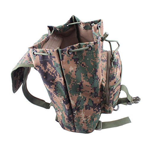 ZX&Q Camuflaje viento portátil pequeño mochila hombres y mujeres universal viaje de ocio al aire libre bandolera,A,20L C