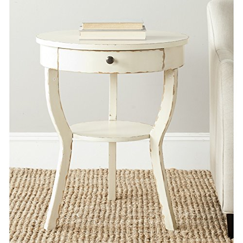 Safavieh American Homes Collection Kendra Vintage Cream End Table Cream Table