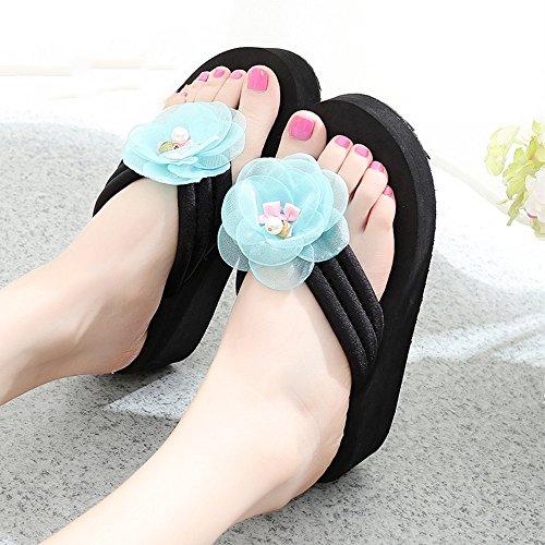 Mujeres Señoras Sandalias Zapatillas deslizadizas resbaladizas del verano femenino Zapatillas de tacón alto Zapatos de la playa con 6 tamaños Cómodo ( Color : 1002 , Tamaño : 33 ) 1004
