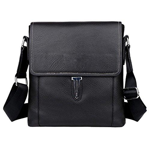 Hombro Messenger Bag Bolsa De Cuero De Los Hombres De Negocios Estilo Larga Maletín Casual Black