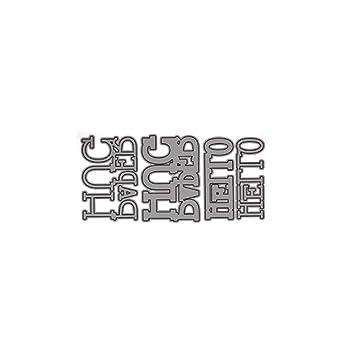 Carta De Abrazo Molde De Cuchillo De Metal, Sello DIY áLbum ...
