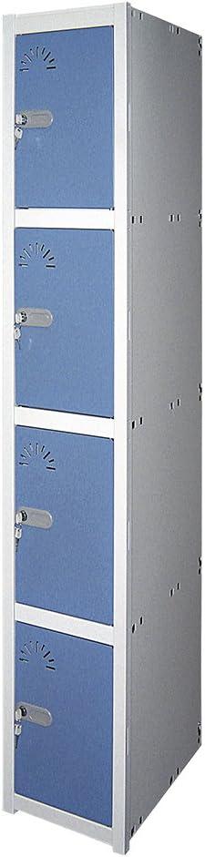 Dim : H 1800 mm x L 430 mm x P 520 mm 2 Portes 1 Module 1 El/ément D/émont/é. Vestiaire M/étallique industrie propre