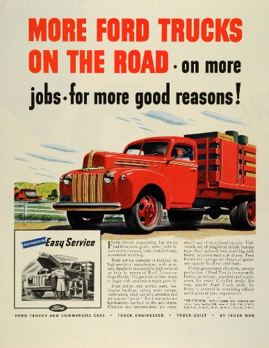 Review 1945 Ad Vintage Ford